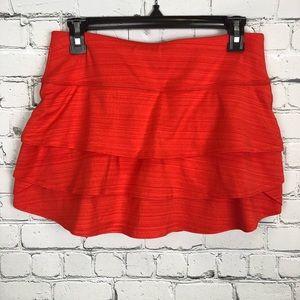 Athleta Swagger Skort Red Orange Size Small